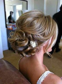 Great Wedding Hairstyle for Medium Hair 2015