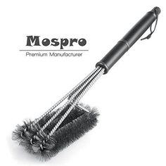 BBQ Grill Brush, Mospro, Barbecue Grill Cleaner Barbecue Cleaner Tools 18' 3 Stainless Steel Bristles in 1 360° Grill Cleaning Perfect for Weber, Charbroil, Gas, Electric, Porcelain, Infrared Grills -- You can find out more details at the link of the imag