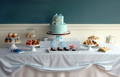 Baby shower table display