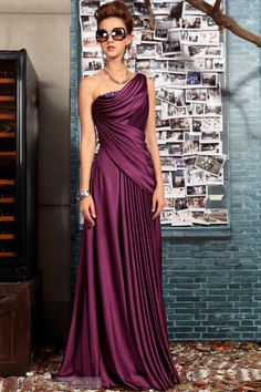 US$208.99 Noble One-Shoulder Beading Floor-Length EveningDressFormal Dress. #Party #Noble #One-Shoulder #Evening