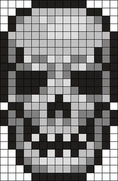 Kandi Patterns for Kandi Cuffs - Characters Pony Bead Patterns Bead Loom Patterns, Perler Patterns, Beading Patterns, Quilt Patterns, Crochet Skull, Pixel Crochet, Perler Bead Art, Perler Beads, Fuse Beads