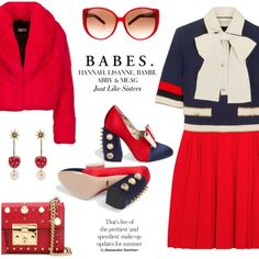 A fashion look from September 2017 featuring Gucci dresses, Gucci pumps and Gucci shoulder bags. Browse and shop related looks.