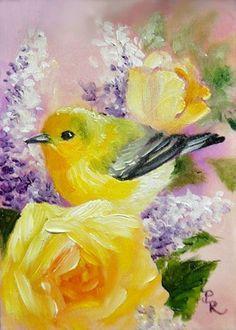 Bird painting by artist Paulie Rollins
