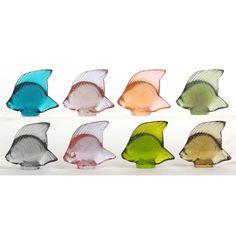 Eight Lalique Fish Sculptures: Leland Little Auctions