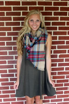 Ivory Plaid Scarf Use code LaurenL10 for 10% off!!!