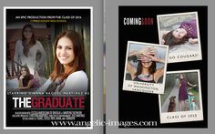 senior girl | graduation card | movie poster -www.angelic-images.com