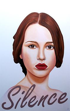 hand made original woman Portrait.  Oil and Acrylic on wood by Gennaro Santaniello