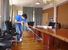An office cleaner dusts, mops and takes out the trash, making sure a building is well-kept. Office cleaners have important duties, as they are responsible for helping to create a pleasant environment for workers and customers. They work in every type of establishment, from medical offices to insurance agencies to general buildings.