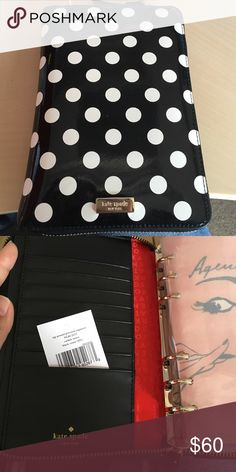 New Kate Spade Organizer New binder for personal organizer with tags. Never used. *does not include pages* kate spade Accessories