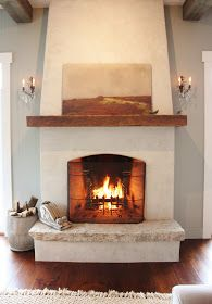 narrower firebox, tapered chimney, hearth for sitting