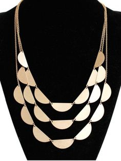 #goldnecklace #rosegal GET $50 NOW | Join RoseGal: Get YOUR $50 NOW!http://www.rosegal.com/sweater-chains/layered-semicircle-sweater-chain-682776.html?seid=6860789rg682776