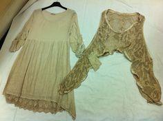Gorgeous Lagenlook 2 pce lace like hem line,,tunic/dress,,,,Last one,,,,,, | eBay