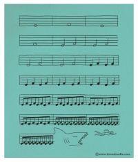 Now you can read music Haha shark music da dum da dum