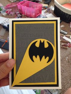 Batman Birthday Card. If you would like this or something like this created please comment here or message me at my Etsy shop AshleesCorner!