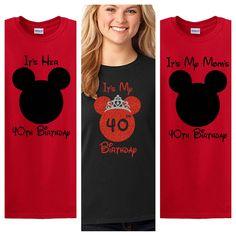 Disney Family Birthday Shirts Custom Mickey