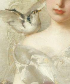 """""""Portrait de Jeune Femme"""" [detail] -- by Vittorio Matteo Corcos (Italian, 1859--1933) **"""