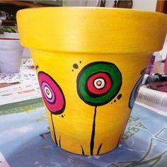 Flower Pot Art, Flower Pot Design, Clay Flower Pots, Painted Clay Pots, Painted Flower Pots, Cactus Clipart, Decorated Flower Pots, Cute Room Decor, Mandala Painting