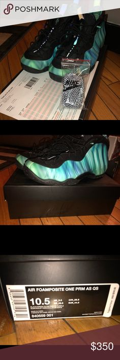 Nike Air Foamposite Northern Lights Sz 10.5 All star Edition Foamposite. New with receipt. 2 sets of laces included. Nike Shoes Sneakers