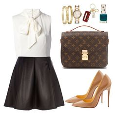"""Без названия #974"" by madinab ❤ liked on Polyvore featuring Dolce&Gabbana, River Island, Christian Louboutin, Topshop, Mulberry, Michael Kors and Cartier"