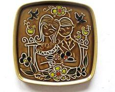 Stavangerflint ceramic plaque - Doce Vika Vintage selected Scandinavian vintage by DoceVikaVintage