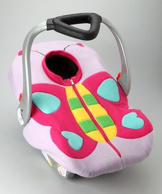 Look what I found on #zulily! Butterfly Fleece Car Seat Cover by Madeline and Company #zulilyfinds