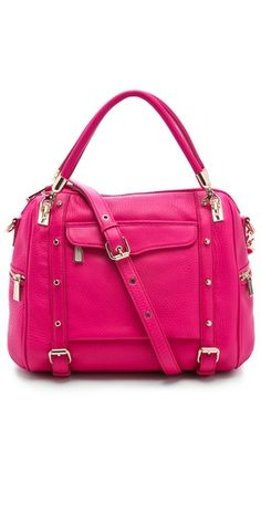 Rebecca Minkoff Cupid Satchel | I need a hot pink bag in my life