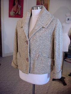 FAB 1940's Detailed Short Wool Jacket w/Fab by OldohioVintage, $79.00