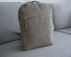 Embossed leather - handmade backpack