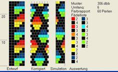 Bead crochet pattern, 6 around