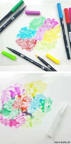 Handlettering Anleitung: So erstellst du Watercolor Hintergründe