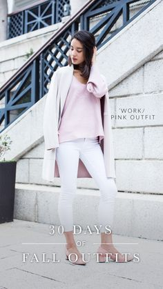 5bfd9fdd20 It s the second day of 30 days of fall outfits. The pale pink outfits with  a pink sweater