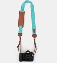 Canvas & Leather Camera Strap — Seaside by Fotostrap