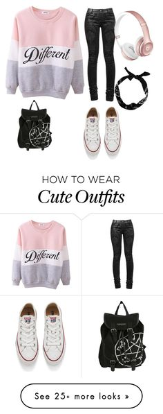 """""""Chill outfit"""" by funnylipsxemily on Polyvore featuring Converse, women's clothing, women, female, woman, misses and juniors"""