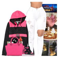 """""""Today"""" by kennisha84 ❤ liked on Polyvore featuring Victoria's Secret, Forever 21, Happy Plugs, MAC Cosmetics, MICHAEL Michael Kors and NIKE"""