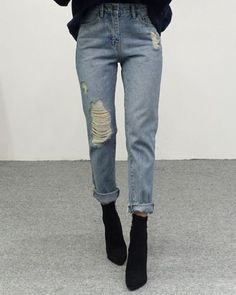 Jeans Denim Distressed Casuale Leggings Jeans in Denim Elasticizzato a Vita Alta a da Donna Elegante Pantaloni Jeans Elasticizzati Casuale Leggings vestibilit/à Stretta Larghi Taglie Forti Elastici