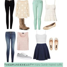 Ariana Grande inspired outfits by fashionblogger0 on Polyvore featuring Oasis, Topshop, Denim & Supply by Ralph Lauren, True Religion, J Brand, Ted Baker, Vans, Forever New and Madden Girl