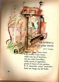 Italian Alphabet, Vintage School, Italian Language, Learning Italian, Home Schooling, Nursery Rhymes, Vintage Books, Crochet Baby, Montessori