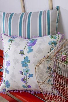 Country Rose, furnishing fabrics from Svenmill Ltd Country Roses, Country, Throw Pillows, Interior, Fabric, Bed, Pillows, Inspiration, Furnishings