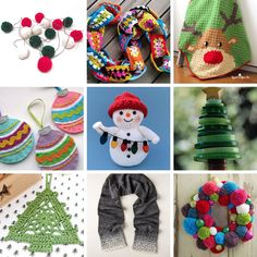 12 Days of Crochet and Craft - get in the handmade spirit this Christmas with these cute and crafty makes that will brighten any Yuletide home or make gorgeous gifts for friends and family. Christmas Button Crafts, Christmas Buttons, Crochet Christmas, Christmas Baubles, Christmas Cards, Cute Crochet, Beautiful Crochet, Crochet Crafts, Knitting Projects