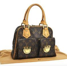 Louis Vuitton Monogram Signature Leather Satchel in Browns