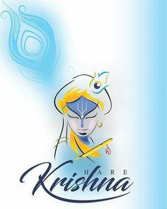 Celebrate the auspicious day of Krishna Janmashtami and Spread the message of love on the prakatya of Lord Krishna. Krishna Tattoo, Krishna Drawing, Krishna Painting, Krishna Art, Radhe Krishna, Iskcon Krishna, Hanuman, Shree Krishna Wallpapers, Radha Krishna Wallpaper