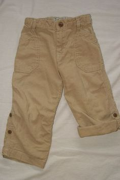 BABY GAP BOYS SZ 3T TAN BROWN LINEN ROLL UP CAPRI PANTS | eBay