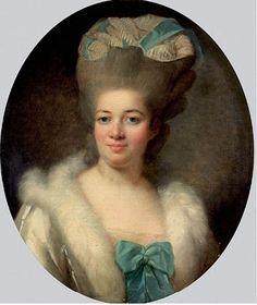 Presumed to be Rose Bertin, Marie Antoinette's dressmaker, c. 1780's by Elisabeth Vigee Le Brun (1755-1842)