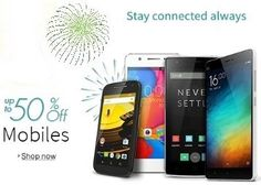 Amazon Great Indian Sale 2016 21st to 23rd Jan republic day Sale buy Samsung,Micromax,Lenevo,Intex Mobiles & More at upto 50% off