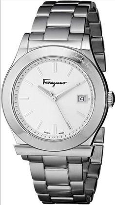 Salvatore Ferragamo Men's FF3960014 1898 Quartz Silver Stainless Steel Watch #SalvatoreFerragamo