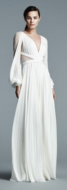 It's true, an ethereal Grecian number proves long sleeves can look incredibly sexy.