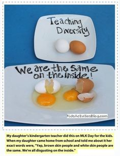 """B's kindergarten teacher did this on MLK Day for the kids. When B came home from school and told me about it her exact words were, """"Yep, brown skin people and white skin people are the same. We're all disgusting on the inside."""" by ellebasi Drawing Lessons, Funny Quotes, Funny Memes, Hilarious, Quotes App, Art For Kids, Crafts For Kids, Haha, Make You Believe"""