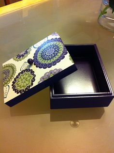 Upcycled Wood Box desk organizer jewelry box accessories kids girl  on Etsy, $15.00