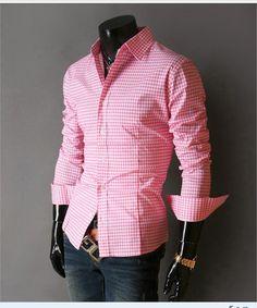 Spring French Plaid  Long Sleeve Collar Shirts