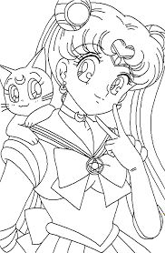 Sailor Moon Series Coloring Pages Sailor Mercury and Sailor Mars